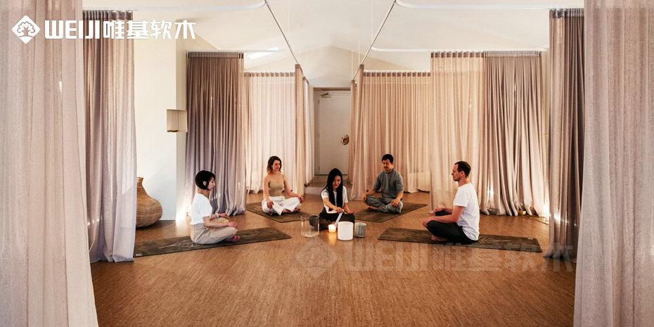 瑜伽软木地板