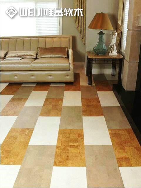 粘贴软木地板拼花系列